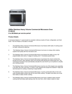 Commercial Size Microwave Oven Heavy Duty