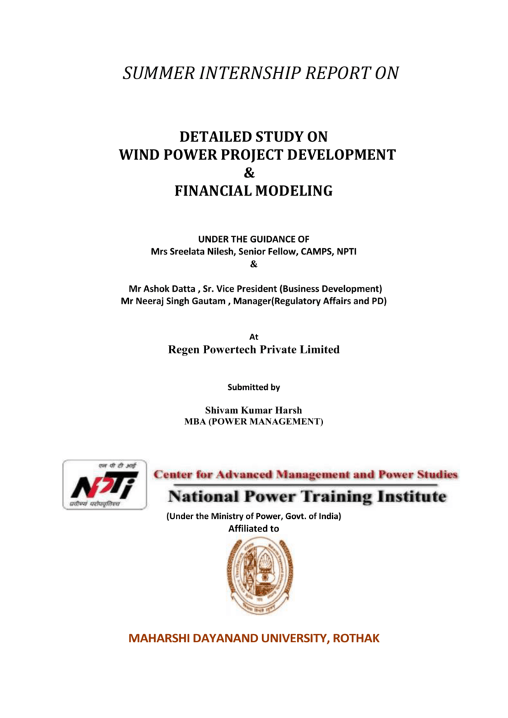 declaration - National Power Training Institute (NPTI)