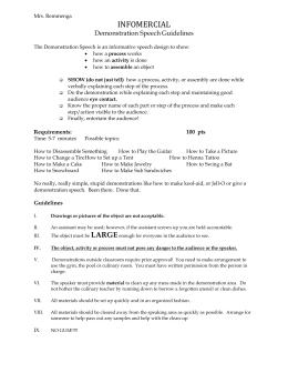 Demonstration speech handout demonstration speech guidelines ccuart Gallery