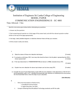Model Question Paper(Communication Engineering II EC4001)