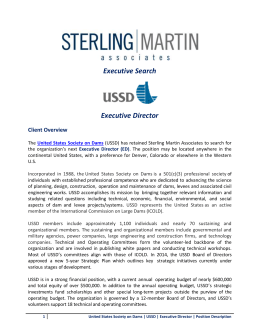 US SOCIETY ON DAMS (USSD) - Sterling Martin Associates