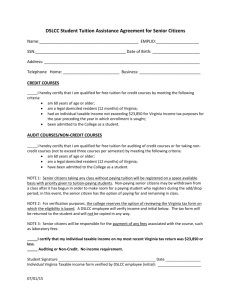 Senior Citizen Application for Free Tuition