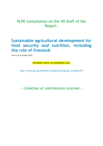 Contributions received - Food and Agriculture Organization of the