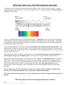 Observing Light Across The Electromagnetic Spectrum
