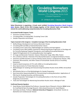 Select Biosciences is organizing a 3-track event entitled Circulating