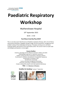 Paediatric Respiratory Workshop