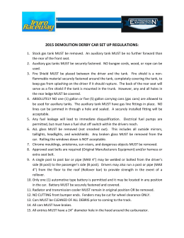 2015 demolition derby car set up regulations
