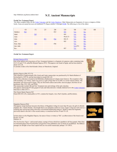NT Ancient Manuscripts