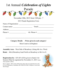 First Annual Celebration of Lights Parade-rvsd