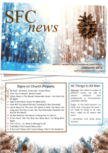 SFC Newsletter – January 2015