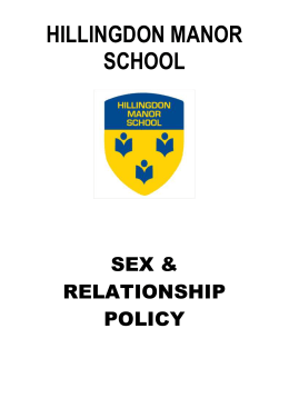 Sex and Relationships Policy – Update Oct 14