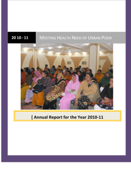 UDAAN Annual Report 2011