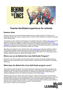 Behind the Lines teacher guide