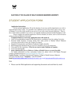 medical student application form - Makerere University College Of