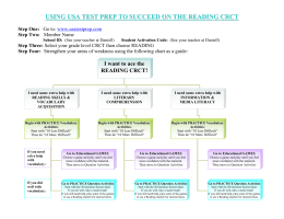 USING USA TEST PREP TO SUCCEED ON THE READING CRCT