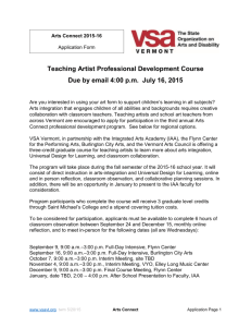 Application - Vermont Arts Council