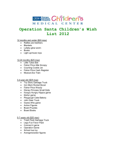Operation Santa Children`s Wish List 2012