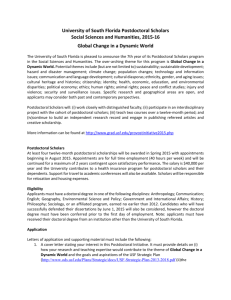 University of South Florida Postdoctoral Scholars