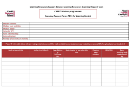 Aberconway Scanning Request Form