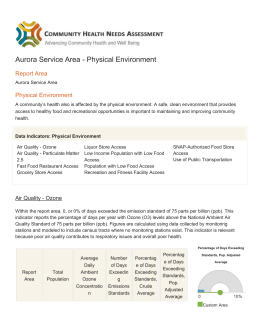 Aurora Service Area - Physical Environment