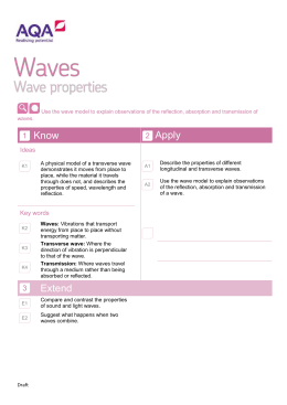 Use the wave model to explain observations of the reflection