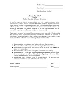Calculator Agreement Form