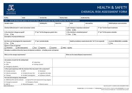 chemical risk assessment template - class 3 flammable liquids risk assessment form