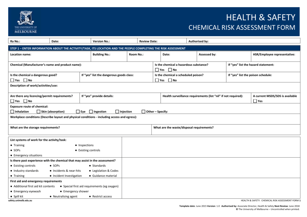 chemical risk assessment template - dorable chemical risk assessment template sketch example