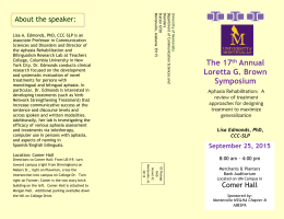 About the speaker - University of Montevallo
