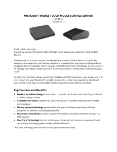 microsoft wedge touch mouse surface edition