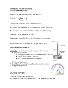 Air Pressure Notes - Delran Middle School