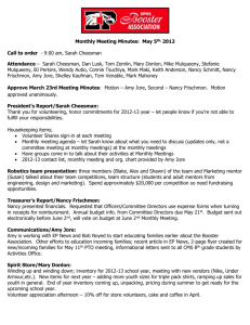 Monthly Meeting Minutes: May 5th, 2012 Call to order