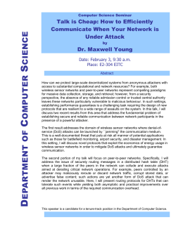 How to Efficiently Communicate When Your Network is Under Attack