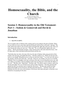 Homosexuality in the Old Testament: Part 1