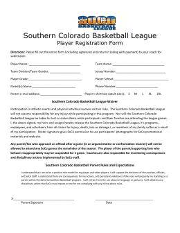 2015 Player Add Form - Southern Colorado Basketball