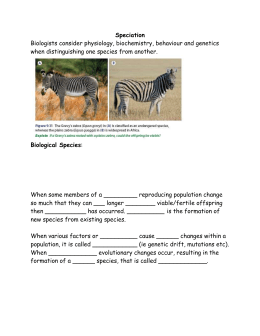 Lesson 8 Speciation student copy