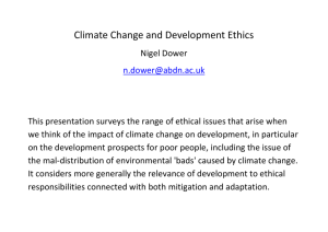 Climate Change and Development Ethics