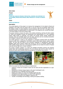 flood and landslide hazard forecasting, warning and response