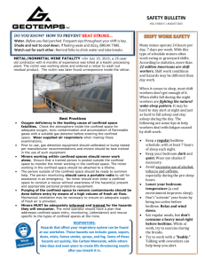 Safety Bulletin August 2015