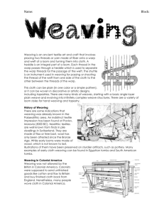 Weaving in Colonial America