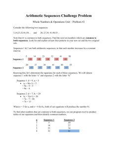 Arithmetic Sequences Challenge Problem