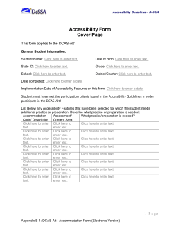 DCAS-Alt1 Accommodations Form (Electronic Version)