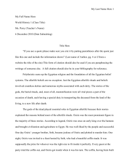 Sample Layout for Research Paper
