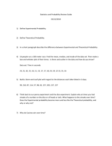 Statistics and Probability Review Guide 05/12/2014 Define