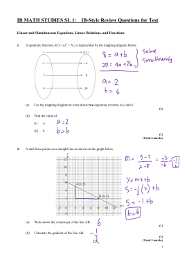 REVIEW TEST IB QUESTIONS SOLUTIONS Linear