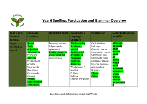 Year 6 Grammar coverage