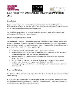 Competition Brief - Sheffield Hallam University