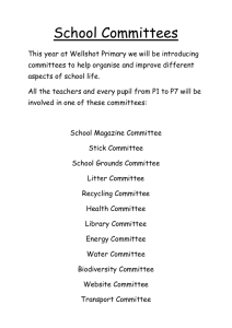 School Committees - Wellshot Primary School