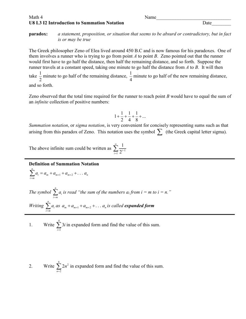 U8 l3 i2 introduction to summation notation biocorpaavc Gallery