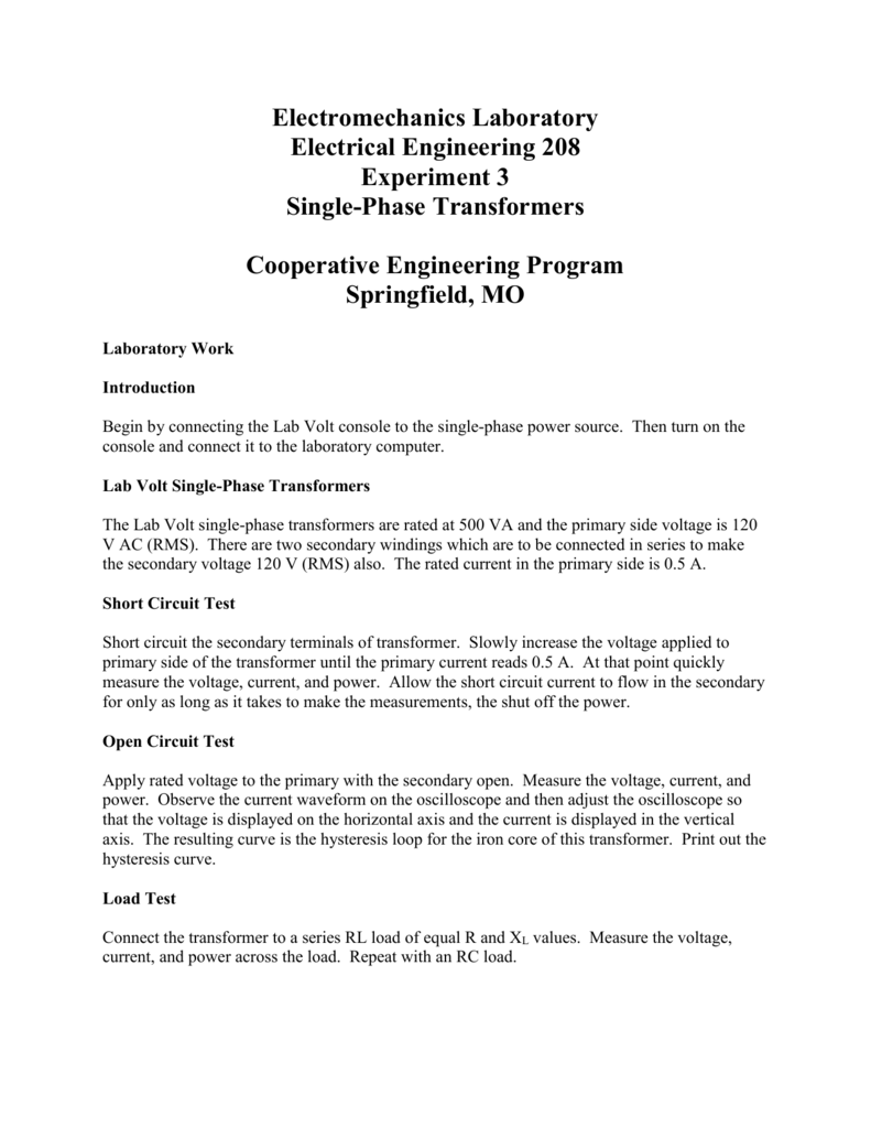 Transformer lab report